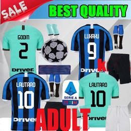 Maillot de football adulte 2019 Inter home LUKAKU LAUTARO maillot de foot maillot de foot 2020 maillot de foot milan de 20 ans milan ? partir de fabricateur