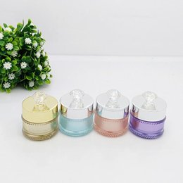 Tarros de crema de color online-10pcs 5g luxury colored empty sample Acrylic cream Jar container ,5cc Mini Cosmetic Cream bottles ,Cosmetics Packaging