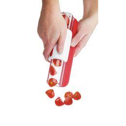 Tomaten obst gemüse online-Multifunktions Küchenwerkzeuge Zip Slicer Tomaten Traubenschneider Obstwerkzeuge Obstkuchen Dekoration Gemüse Obst Werkzeuge