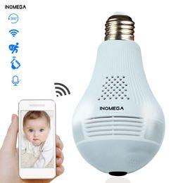 2019 INQMEGA 360 Derece LED Işık 960 P Kablosuz Panoramik Ev Güvenlik Güvenlik WiFi CCTV Balıkgözü Ampul Lamba IP Kamera İki Yolları Ses nereden