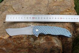 2019 tac force knife CUSTOM [NO GRIMSMO] NORSEMAN BÖHLER M390 TANTO HOJA SKYBLUE DE ANODIZADO TI HARDWARE DIAMOND MODELO manija TITANIUM TACTICAL RESCUE CUCHILLO EDC