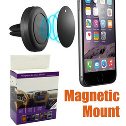 2019 autohalter verpackung auto montieren mit magnet Universal Auto Magnetic Air Vent Mount Halter Stand 360 Rotation Für iPhone Android Smartphone Mit Kleinpaket rabatt autohalter verpackung