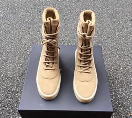 2019 taktische schuhe für männer Chaussure Homme New Superstar Designer Kanye West-Schuh Männer Military Crepe Stiefel Schwarz Braun Tactical Flache Stiefel schnüren sich oben Herbst Ankle Booties
