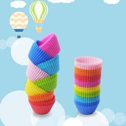 Molde de copo para o bolo on-line-Silicone Muffin Bolo Cupcake Cup Bolo Caso Mold Bakeware Criador Molde Bandeja De Cozimento Jumbo HOT Z69