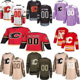 Хоккейные трикотажные изделия calgary онлайн-2019 Новости Calgary Flames хоккейные майки Несколько стилей Мужские Пользовательские Любое имя Любое число Хоккейные майки