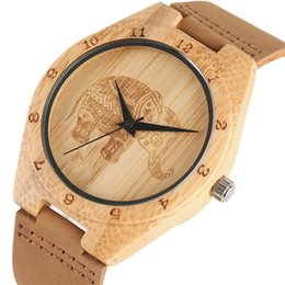 elephant wrist watches Promo Codes - clock women Mandala Bohemian Style Wooden Man Women Watches Exquisite Thailand Elephant Engraving Bamboo Wrist Watch Men Clock Xmas Gifts