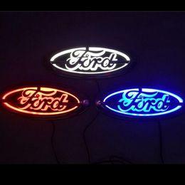 Luz led ford kuga on-line-logotipo 5D Auto Luz Traseira emblema da lâmpada LED Car por 14,5 centímetros Ford Focus Mondeo Kuga Auto emblema Luz * GGA1739 5,6 centímetros
