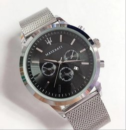orologi di lusso di immersione di lusso Sconti Maserati uomini di lusso in acciaio inossidabile orologio da uomo movimento al quarzo orologio da uomo maglia cinturino orologio da polso da uomo da polso sportivo montres