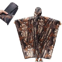 electric clothing Coupons - Camouflage Raincoat Outdoor Hiking Camping Electric Car Riding Clothing Rain Cover Portable Waterproof Tent Mat Hunting Clothes