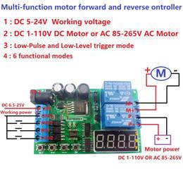 Controlador de plc online-DC 5-24V Multifunción AC DC Motor Reversible controlador Tablero de controlador para Toy PLC Coche Puerta de garaje