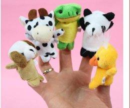 Brinquedos noturnos on-line-Mesmo mini dedo animal bebê fantoches de dedo de brinquedo de pelúcia falando adereços 10 grupo de animais de pelúcia além de animais de pelúcia brinquedos presentes congelados