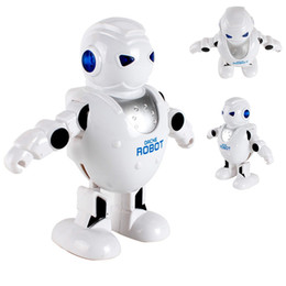 Lumières de danse tournantes en Ligne-Intelligent Electric 360 Rotation Danse Robot Swagging Espace Robot Effets De Lumière Avec La Musique Mini Robot Cadeau D'anniversaire De Noël