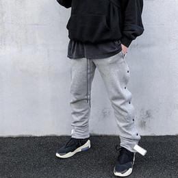 Pantalon vintage hommes à carreaux en Ligne-19SS peur de Dieu FOG Dark Buckle Pantalons de survêtement Gris Classique Pantalon De Survêtement De Luxe Vintage Rue Pantalon Décontracté Hommes Femmes Pantalon De Sport HFYMKZ143