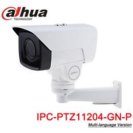 dahua 2mp ip camera Desconto Camera 4X PTZ IP Dahua PTZ11204-GN-P 2MP 1080P POE Motorizado 2.8-11.2mm VF Lens H.265 IR 60M IP67 com Pan / Tilt Bracket