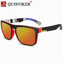 QUISVIKER BRAND DESIGN polarisierten Sonnenbrillen Herren-Sonnenbrillen Retro Vintage oculos masculino Luxus Schatten männlich Platz Brillen von Fabrikanten