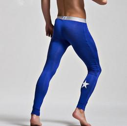 2019 uomini di calzoni gialli Pantaloni da yoga modali leggings termici strato termico da uomo Sports Star stretto stampato blu arancione giallo bianco rosso spedizione gratuita sconti uomini di calzoni gialli