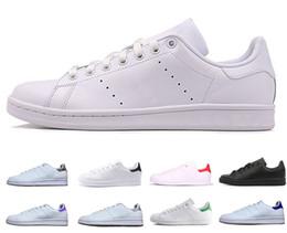 finest selection 9edc2 6fbe3 Stan Brand uomo donna scarpe moda smith sneakers classico striscia verde oro  bianco scarpe casual scarpe sportive in pelle scarpe da donna