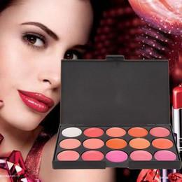 2019 paleta brillo de labios DHL 96 sets / lot popfeel 15 colores Lip Gloss Lipstick Palette Maquillaje Nude Lipstick Palette Mate Lipgloss Lips Lip Pigment Lip Palette # L15-2 paleta brillo de labios baratos