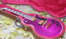 Guitarras roxas on-line-Venda nova chegada personalizado 1957 cor roxa guitarra elétrica frete grátis