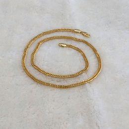 Canada Collier en chaîne à maillons italiens à double chaîne cubaine en or massif 10K, jaune 20 K Offre