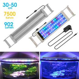 AC110-220V RGBW 7.5-38 W CONDUZIU a Luz Do Aquário Do Tanque de Peixes Aquático Lâmpada À Prova D 'Água Espectro Completo Planta Crescer Luz Ajustável de Fornecedores de coral crescendo luzes