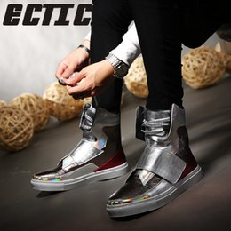 hip hop dance shoes man Coupons - ECTIC Luxury brand Hip-hop dancing cool  silver 432f4823aa6e