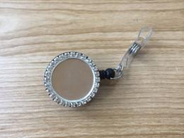 Bobine per badge retrattili nere con strass e centro in metallo esattamente Porta tessere porta tessere porta badge con mulinello con clip in metallo da collana tailandese fornitori