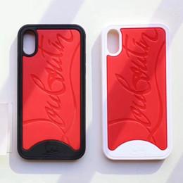 Canada Coque de protection contre le choc pour IPhoneX Vogue Noir Rouge / Blanc Rouge Pour IPhone X XS Offre