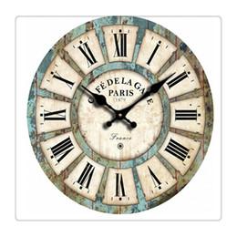 números de época Desconto Hss 12 Vintage numeral romano Design França Paris enferrujado Metal olhar francês Country estilo toscano Paris madeira relógio de parede