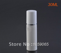 30ml acrilico bianco airless vuoto pompa bottiglia lozione con tappo bianco usato per il siero / lozione / emulsione / fondazione contenitore cosmetico da bottiglie all'ingrosso del profumo della farfalla fornitori