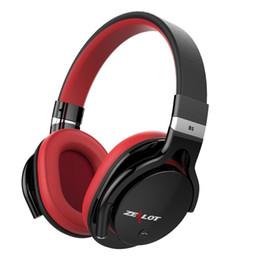 Slot para iphone sd on-line-Zealot b5 fone de ouvido estéreo sem fio fones de ouvido com microfone bluetooth 4.0 fone de ouvido sobre fone de ouvido com slot micro-sd