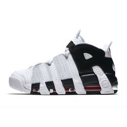 a68b0da9341 Air more Uptempo 96 QS Black White Red Gold Olympic Maroon Mens Basketball  Shoes 3M Scottie Pippen Sports Sneakers Brand Trainers size us13