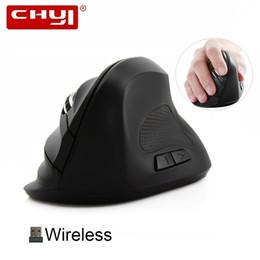 Красочные коврики для мыши онлайн-CHYI Vertical Mouse Ergonomic Optical 2.4G 1200/1600DPI Colorful Light Wrist Healing Wireless Mice with Mouse Pad Kit For PC