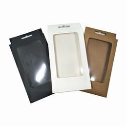 Fenêtres de boîte de papier en Ligne-Coloré 10x17x1.5 cm 20pcs Lot Kraft Papier Poly Fenêtre Accessoire Électronique Hang Hole Boîte D'emballage Carton Savon Artisanal Téléphone Cas Boîtes