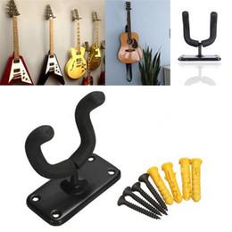 rackbass Rabatt Maxfind Gitarrenständer Aufhänger Hakenhalter Wandhalterung Ständer Rack Bracket-Display Für die meisten Gitarrenbässe Einfach zu installieren + Schrauben