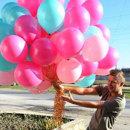 Balões de casamento rosa branco on-line-100 pcs 12 Polegada 2.8g Rosa Branco Rosa Vermelha Engrossar Balão De Látex Partido Balão de Férias Românticas Balões De Casamento Decoração Decoração