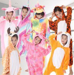 Bambini di kigurumi online-Bambini Pigiama Kigurumi Unisex Cosplay Costume per animali Carino Sleepwear Sleepwear Tuta Baby Sleepwear 27 design KKA6348