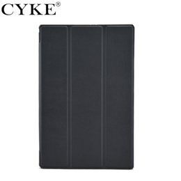 Xperia fino on-line-Cyke ultra fino capa para sony xperia tablet z2 z3 com três camadas de couro inteligente case com auto sono wake função