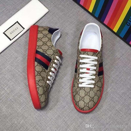 2020 New shoes ACE embroidered white tiger bee snake shoes Genuine Leather Sneaker Mens Casual Shoes size 35 45 1001