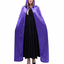 Costume d'Halloween pour les femmes à capuche Elfe de la mort Magicien Sorcière Cape Cape Robe Fantasia Adulto ? partir de fabricateur