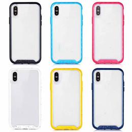 прозрачный пластиковый корпус Скидка Официальный нескользящий гибридный чехол для Iphone XR XS MAX X 10 8 7 6 6 S жесткий пластик+мягкий TPU двухцветный прозрачный двойной цвет крышка телефона 2019