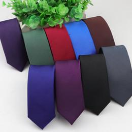 2019 großhandel gestreifte krawatten für männer Hight Qualität 1200 Needles Krawatte 5cm Breite Solid Color Krawatten Gentleman Narrow Männer Polyester Gravata Tie Formal dünne Größe