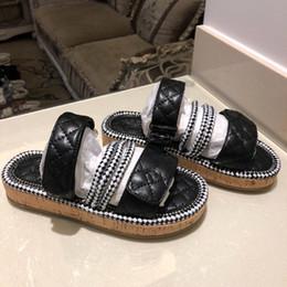 39bf62fdf24b 2019 mujeres italianas de verano diseñador de lujo playa interior plana G  zapatos marca para mujer sandalias zapatillas zapatillas shuang190404