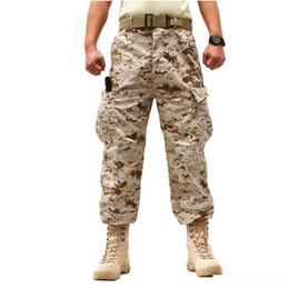 Saha Muharebe Eğitim Ordusu Fan Taktik Pantolon Erkekler Açık Yürüyüşü Av çok cepli Kamuflaj Ekose wearproof Pantolon Büyük Beden nereden kore kış etekleri tedarikçiler