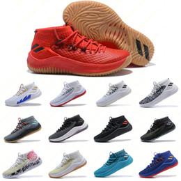 mens scarpe da basket d rose Sconti Scarpe da ginnastica da uomo Lillard Dame 4 Scarpe da basket D Lillard Athletics Sneakers Adidas D Lillard 4 Rip City Sport da esterno Alta qualità Taglia 40-46