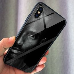 iphone 24 Promo Codes - No.1 Basketball Sport Stars 24 phone Case Glass TPU iPhone 6 7plus 8 X XS Max XR Samsung s9 s10 s10+ Case