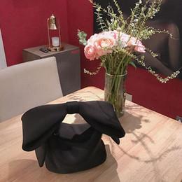 2019 bolsos de noche de diseñador negro Diseñador Mujer Bolsos Arco Dia Embragues Bolsa Señoras Fiesta de noche Embragues Bolso negro Bolso bandolera (Negro) bolsos de noche de diseñador negro baratos