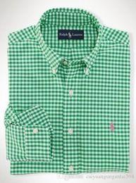 2019 camisas empresariais de qualidade para homens Nova Moda Pequeno Cavalo Oxford Camisas Dos Homens de Manga Longa Camisas de Vestido Dos Homens de Alta Qualidade Mens Camisas de Negócios polo Chemise Homme desconto camisas empresariais de qualidade para homens