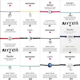 2019 браслеты 36 стиля бесконечность желания обернуть браслет Unicorn медсестры танец Корона дерево учитель гимнастика Гимнастика Спорт Шарм браслет дешево браслеты