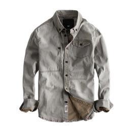 a0032459df1 Japanese Harajuku Retro Rinse Denim Shirt for Men Urban Boys Casual  Streetwear Vintage Distressed Button Down Long Sleeve Shirts